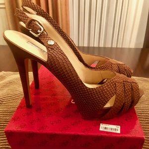 Nice Guess slingback heels with platform.